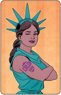 CBLDF Statue of Liberty logo
