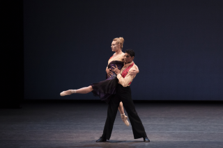 Sara Mearns and Amar Ramasar in Justin Peck's The Dreamers. Photo credit Paul Kolnik