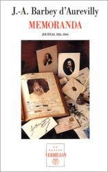 Jules Barbey d'Aurevilly: Memoranda