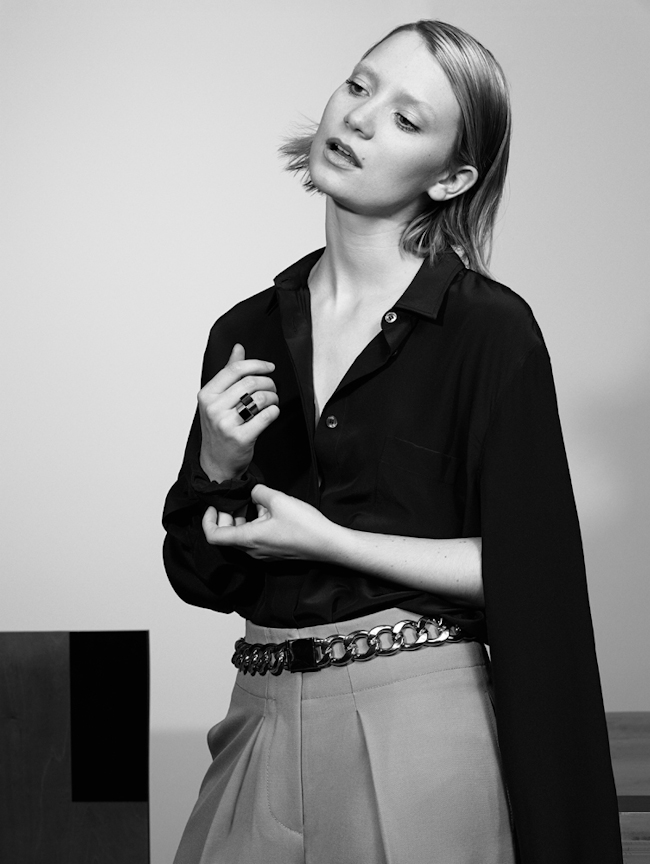 INTERVIEW MAGAZINE Mia Wasikowska by Craig McDean. Karl Templer, August 2014, www.imageamplified.com, Image Amplified