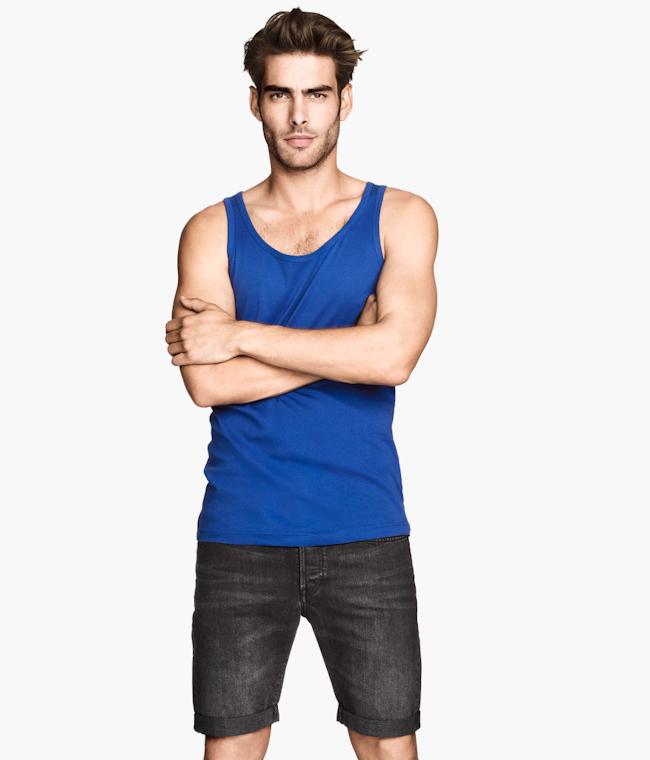 CAMPAIGN Jon Kortajarena for H&M Summer Basics 2014. www.imageamplified.com, Image Amplified