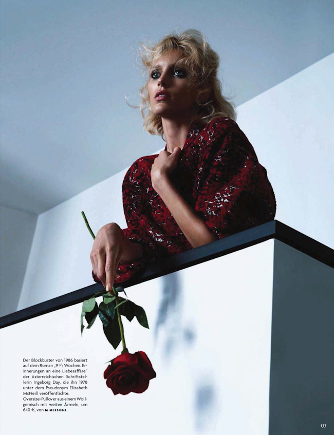 VOGUE GERMANY Anja Rubik in Passion by Camilla Akrans. Nicolas Knels, August 2014, www.imageamplified.com, Image Amplified
