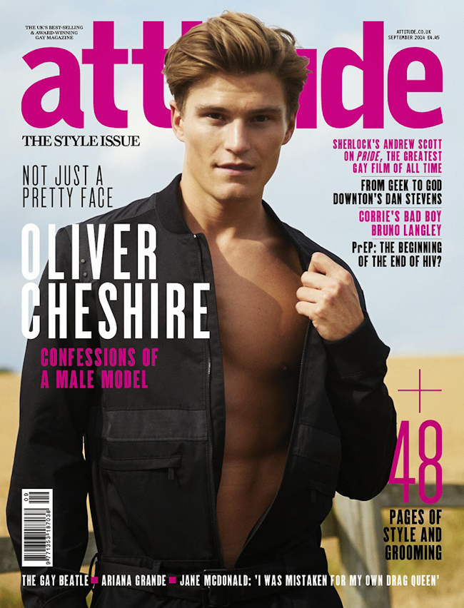 FASHION PHOTOGRAPHY Oliver Cheshire in The Cheshire Cat for Attitude UK, September 2014, www.imageamplified.com, Image Amplified