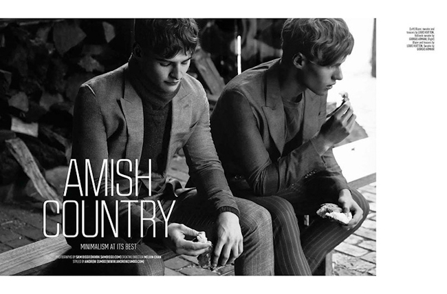 AUGUST MAN MALAYSIA Jackson Williams, Michael Delianov & Zach Grenenger by Sam Bisso. Andrew Zumbo, Fall 2014, www.imageamplified.com, Image Amplified