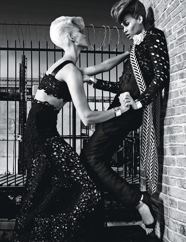 W MAGAZINE Joan Smalls & Karlie Kloss by Steven Klein. Edward Enninful, November 2014, www.imageamplified.com, Image Amplified