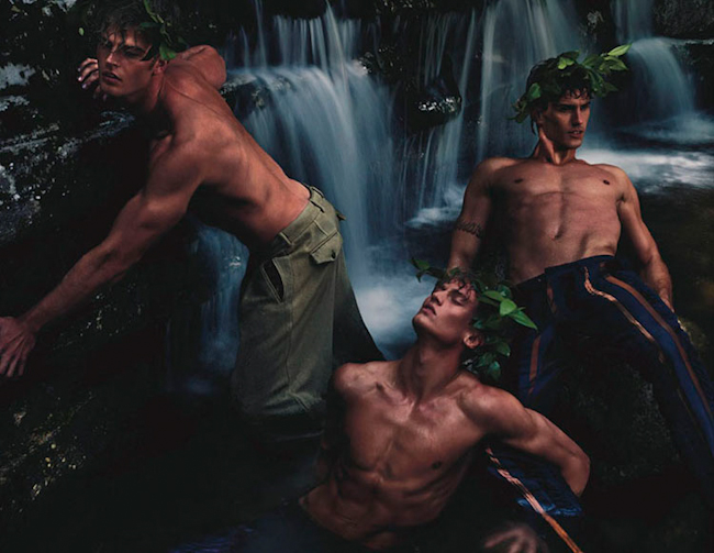 L'OFFICIEL HOMMES SINGAPORE Alexander Johannson, William Roy, Brad Alphonso & Taylor Ashmore in Mystic Fall by Chuando & Frey. Jack Wang, Jumius Wong, Fall 2014, www.imageamplified.com, Image Amplified