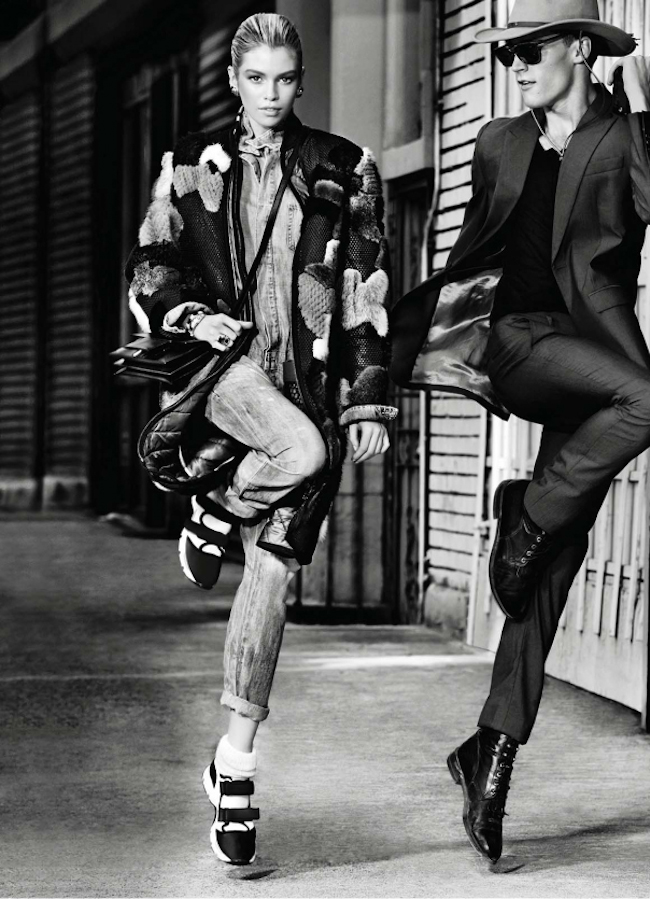 ELLE MAGAZINE Stella Maxwell & Jacob Larsen by Max Vadukul. Sabina Schreder, November 2014, www.imageamplified.com, Image Amplified
