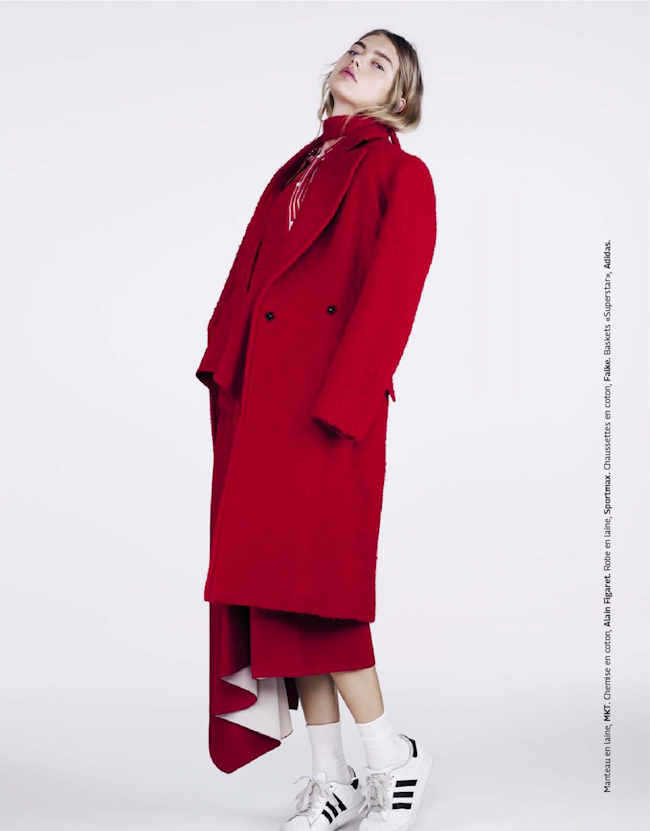 GRAZIA FRANCE Hanna Verhees in Red by Naomi Yang. Donatella Musco, October 2014, www.imageamplified.com, Image Amplified