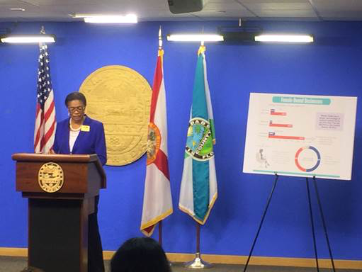 Marie Woodson. Release of Report of the Status of Women in Miami-Dade County.