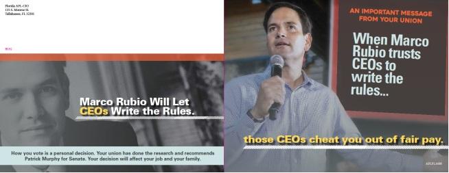 AFL-CIO drops new batch of anti-Rubio mailers   Naked Politics