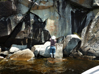 Rick_On Shore Pictograph Inspection (1)