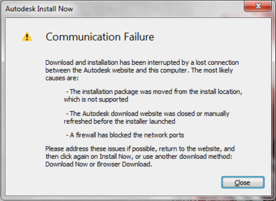 Communication-failure