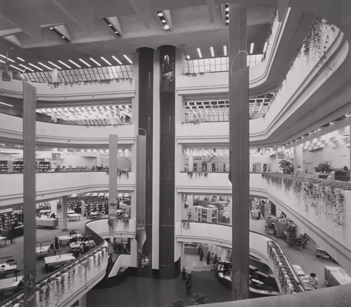Metropolitan Toronto Library interior 1977