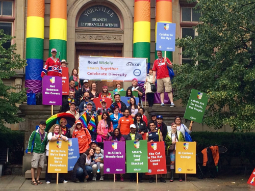Toronto Public Library Pride Alliance at the 2015 Pride March