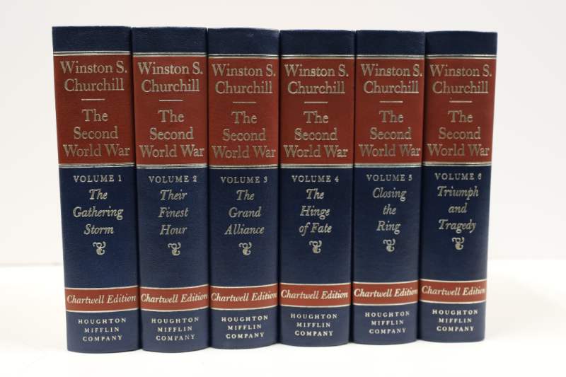 Winston Churchill's six volume The Second World War (Chartwell Edition) for $36.00