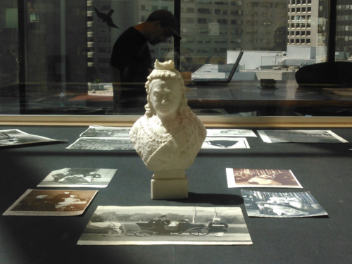 Queen Victoria bisque bust on display Toronto Reference Library Arts Department 5th floor.