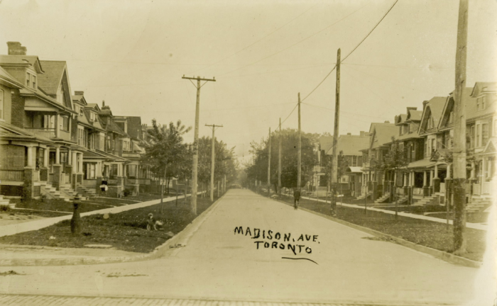 Madison Avenue vintage postcard circa 1910 looking south of Dupont
