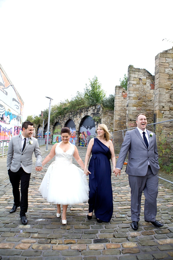 Intimate 4 person wedding in Newcastle Upon Tyne photography by Katie Byram
