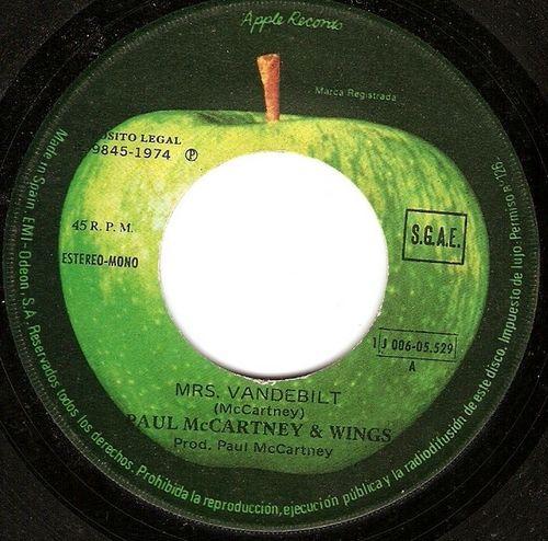 Paul McCartney - Mrs. Vandebilt