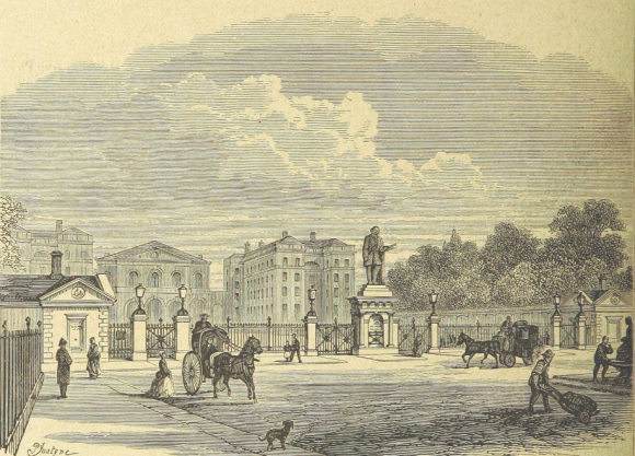 View of the Foundling Hospital from outside its gates