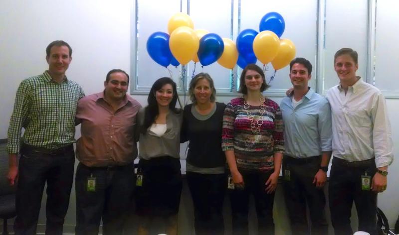Google summer interns last year with Susan Wojcicki