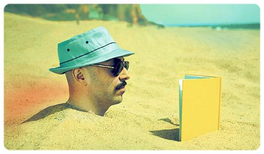 Leer es la única razón por la que algunos bajamos a la playa