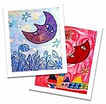Hermosas lunas, diseño y regalo de nuestra compañera de Palabras AzuLes, Dolors Todolí Bofí