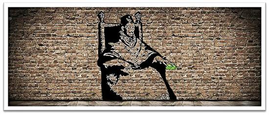 Banksy en tiempos de Inocencio X | Postal de Esther. Estudiante de la asignatura Dibujo Artístico en el Instituto de Enseñanzas a Distancia de Andalucía (IEDA).
