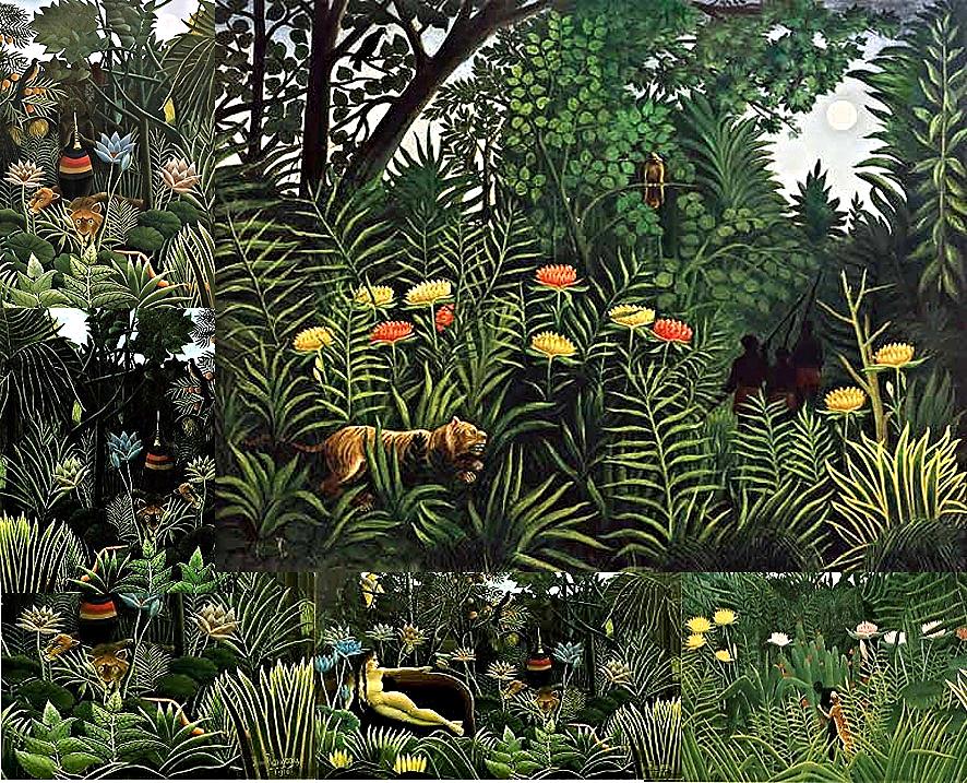 Pinturas utilizadas de referencia / Henri Rousseau