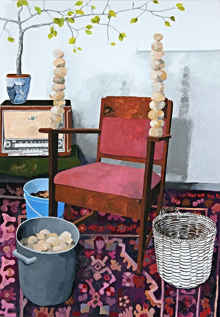 Het Geheim 138 x 99 cm. Obra del artista de Ámsterdam Erik Mattijssen.