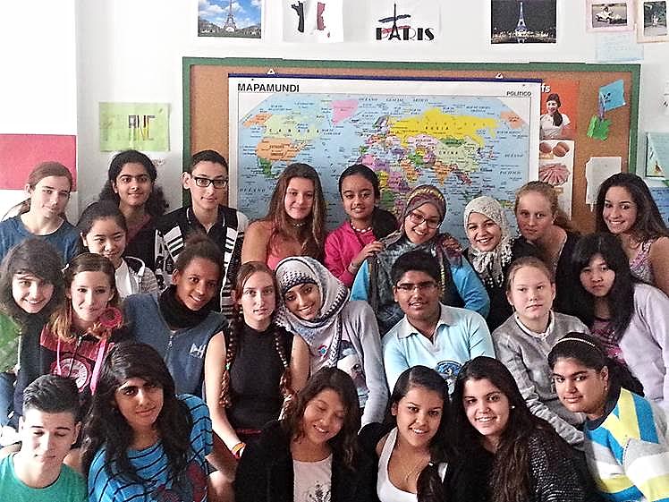 Estudiantes del Comité, el día del concurso fotográfico de la amistad con Senegal, Sáhara...