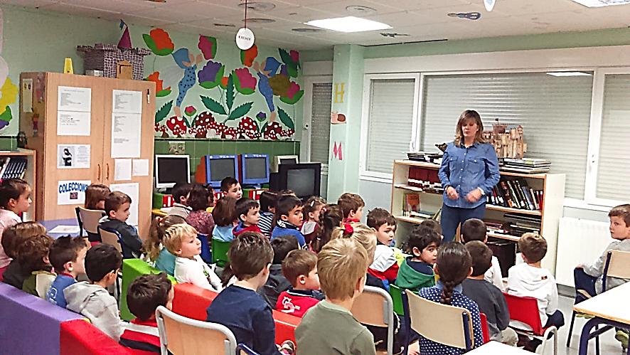 Gema Martínez, bibliotecaria, explica a los niños de 5 años cómo funciona la biblioteca municipal de Benidorm | Visita de la bibliotecaria de la biblioteca municipal, Blog ¡Que la llum dels llibres no s'apague mai!)