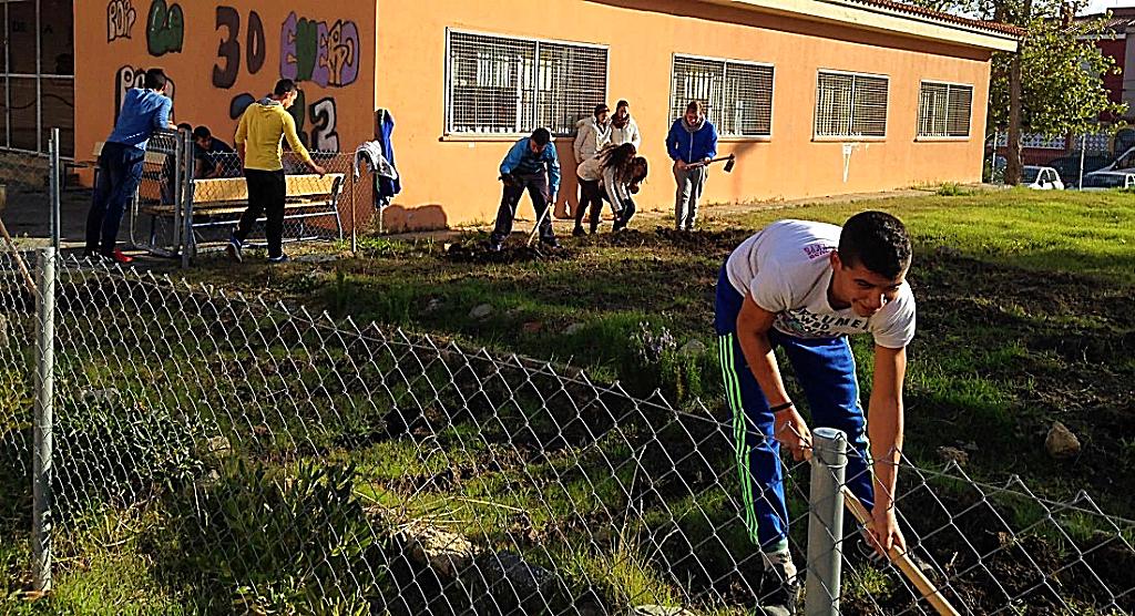 Estudiantes del IES 'García Lorca', trabajando el huerto | IES 'García Lorca'