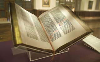 Gutenberg Bible via Flickr