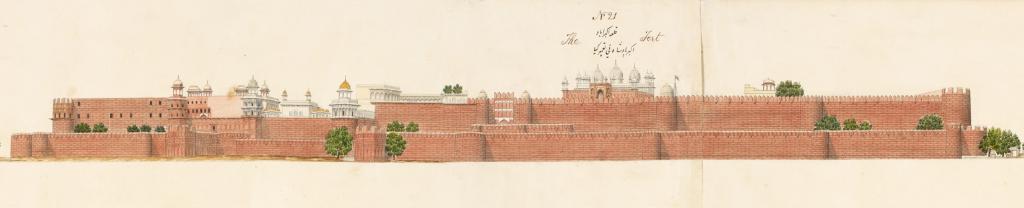The Agra Fort, Agra artist, c. 1830 (Or. 16805, detail) [Licensed under public Domain]