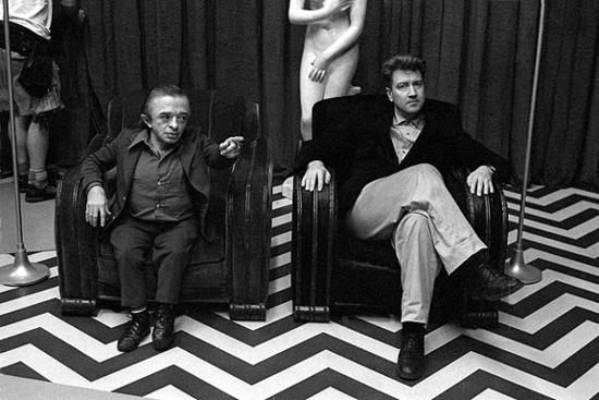 Michael J. Anderson y David Lynch.