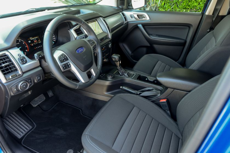 2019 Ford Ranger Dashboard and Front Seats