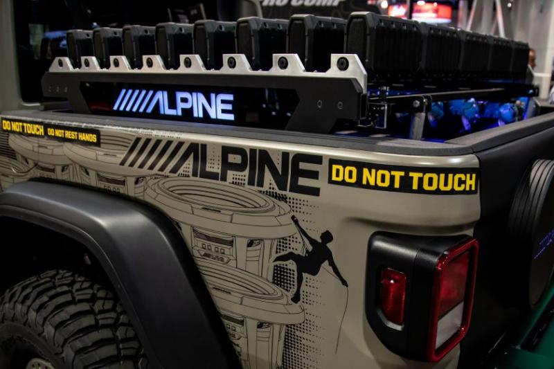 2020 Jeep Gladiator Alpine Equalizer Rear Corner WIth Alpine Decals