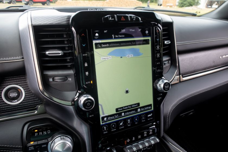 2020 Ram 1500 EcoDiesel Uconnect Screen