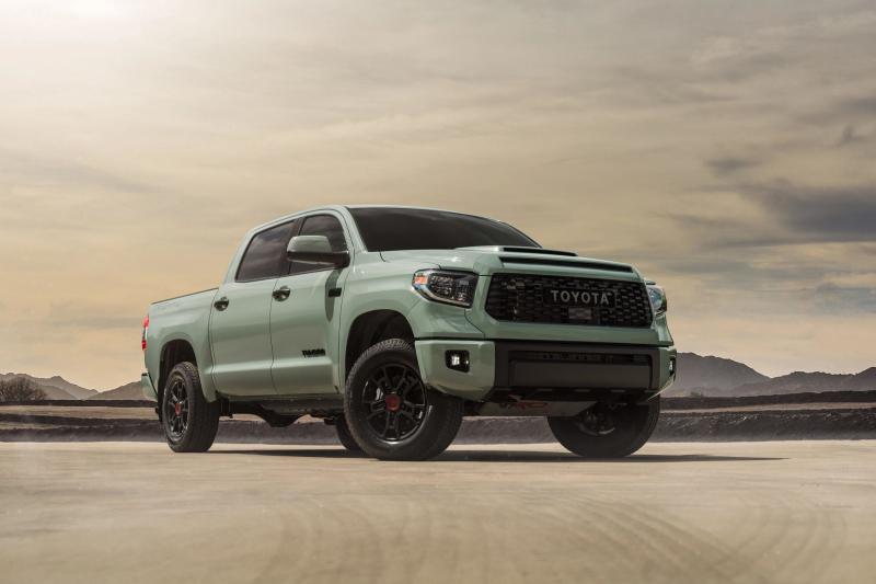 2021 Toyota Tundra TRD Pro Side Profile Against Mountain