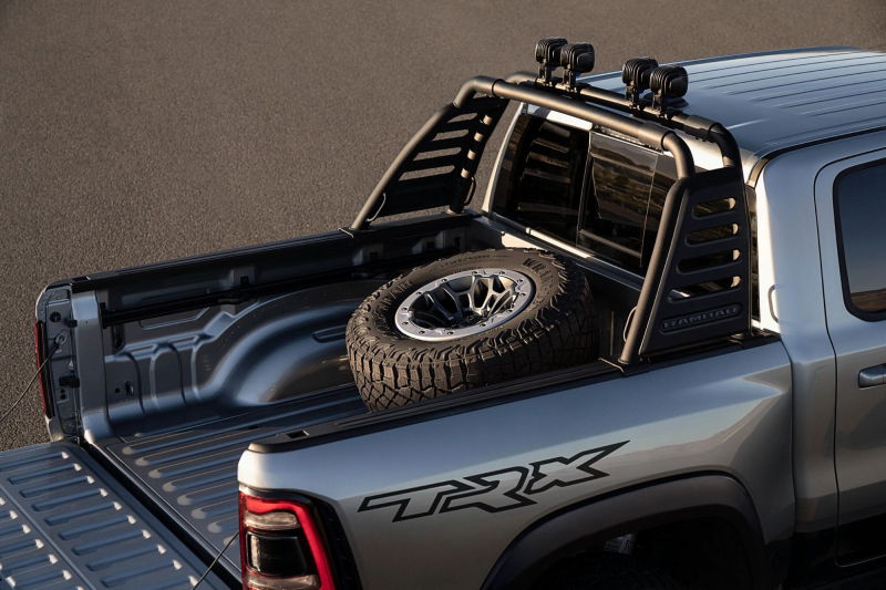 2021 Ram 1500 TRX With Mopar RamBar, LED Lights and Spare Tire Carrier