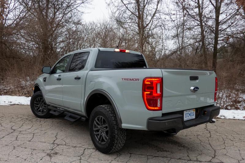 2021 Ford Ranger Tremor Rear Profile