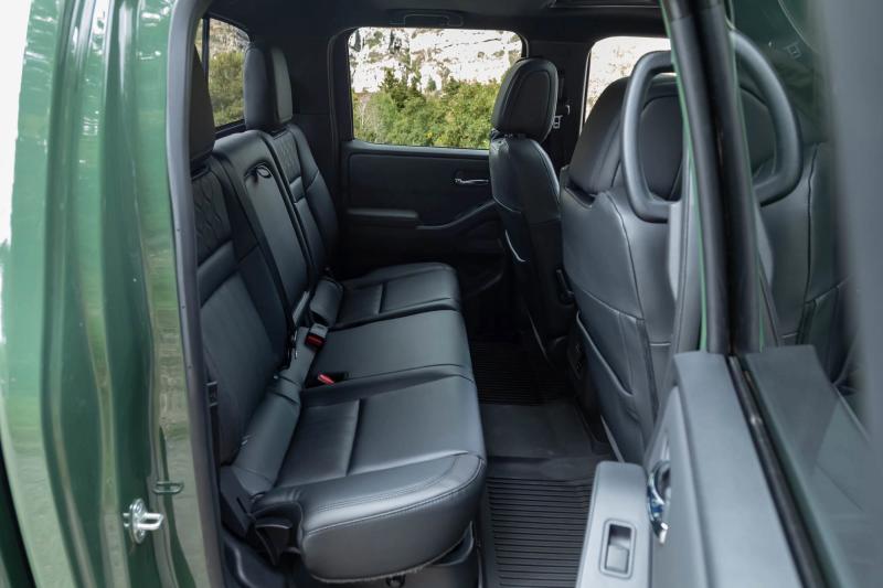 2022 Nissan Frontier Pro-4X backseat