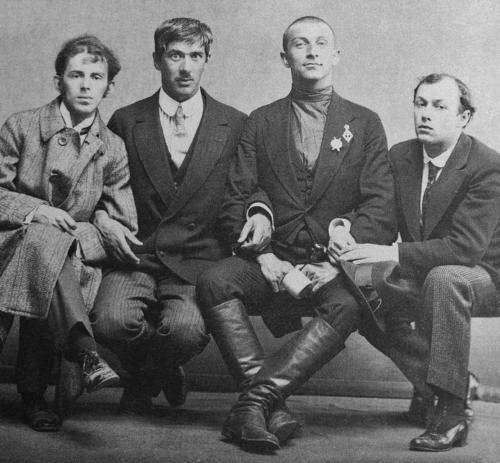 Mandelstam,_Cukovsky,_Livshiz_&_Annenkov_1914_Karl_Bulla