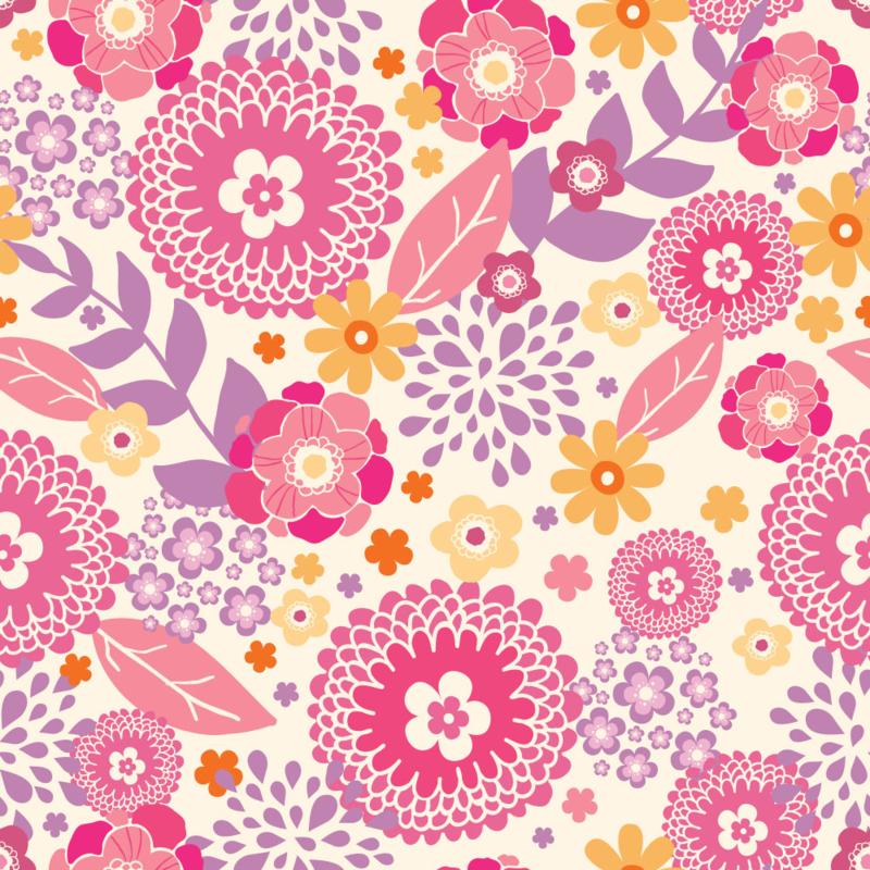 Vibrant Floral Garden by Oksancia