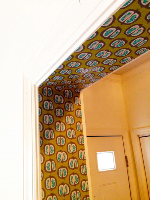 Wallpapered Doorframe