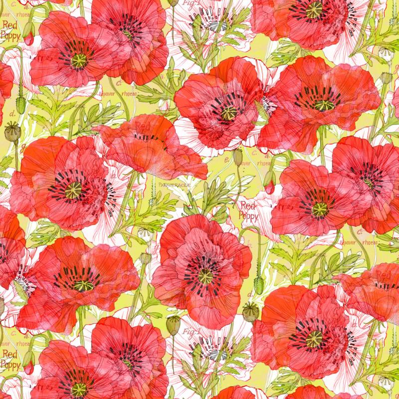 Romance Poppies, Robin's Fabric8 entry