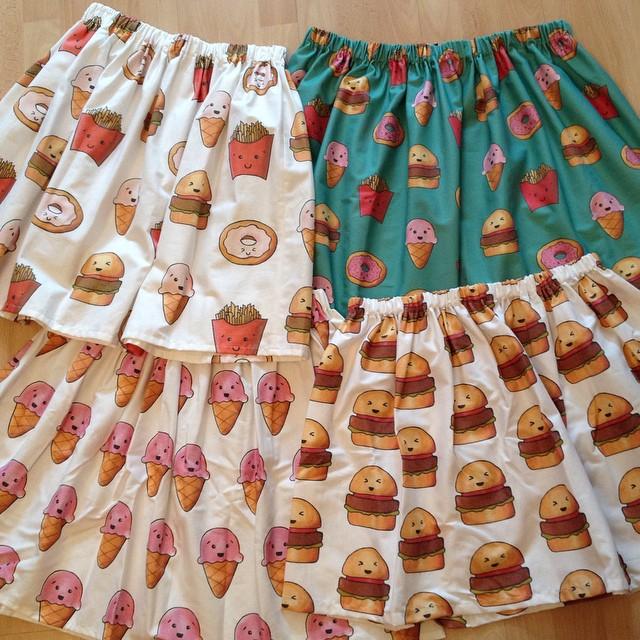 Graphic skirts