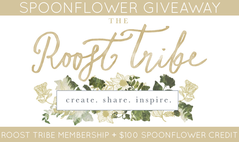Spoonflower + Roost Tribe Givaway