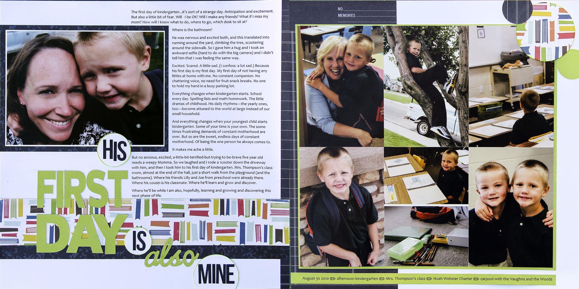 Scrapbooking Your Back-to-School Story - Write  Click  Scrapbook